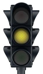 Three traffic lights icon (done in 3d, isolated)
