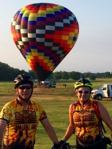 Terri and I at the Collins County Texas Ride.